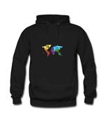 Geometric color world map Men's Diy Sweatshirt Hoodie - $34.82