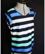 THE LIMITED Top Blouse S Multi Stripe Polyester Machine Wash VERY NICEno - $15.80