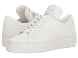 MICHAEL Michael Kors Mindy Lace-Up Sneakers Optic White Size 10 - $84.99