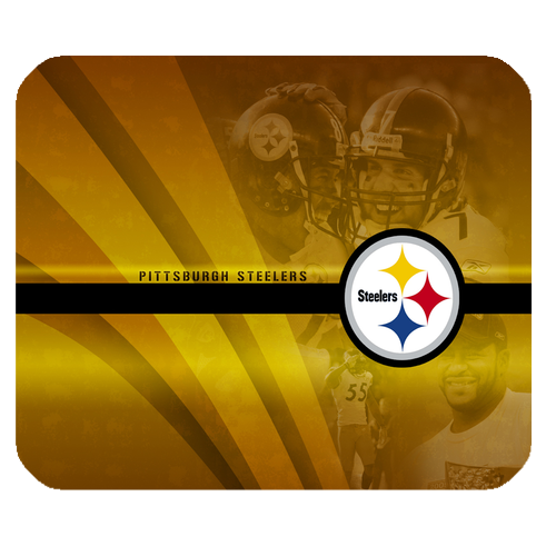 Professional american football the pittsburgh steelers logo for game mousepads