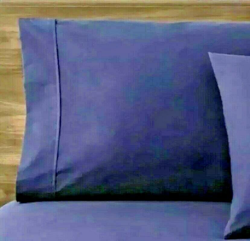 Made By Design Solid Easy Care Pillowcase Set (King) Blue Amethyst  NEW