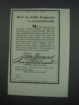 1930 John Hancock Mutual Life Insurance Company Ad - How to make bequests - $14.99