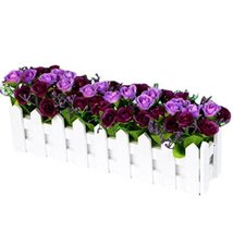 George Jimmy Artificial Flowers Arrangement Room Components Wood Fence Floral De - $20.14