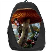 backpack mad hatter alice wonderland looking glass school bag - $41.79