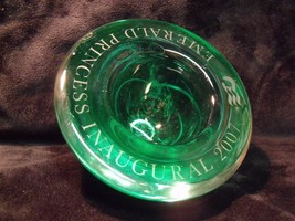 KOSTA BODA SIGNED SWIRL GREEN GLASS 2007 EMERALD PRINCESS INAUGURAL BOWL - $29.70