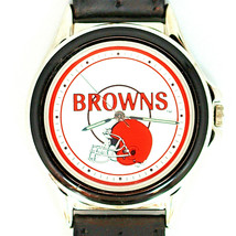 Cleveland Browns NFL Fossil Relic New Unworn Watch, Silver Tone Black Insert $75 - $74.10
