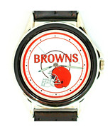 Cleveland Browns NFL Fossil Relic New Unworn Watch, Silver Tone Black In... - $74.10