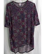 Womens LuLaRoe Irma Shirt SMALL Turquoise Purple Fuchsia White Black NWT - $23.75