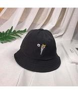 Black Fisherman Hat Summer Outdoor Fashion Sun UV Protection Straw Cap f... - $15.84
