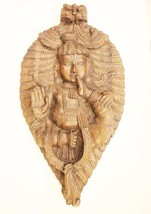 Vintage Wooden Wall Hanging Lord Krishna Collectible Handmade Home Décor... - $713.45