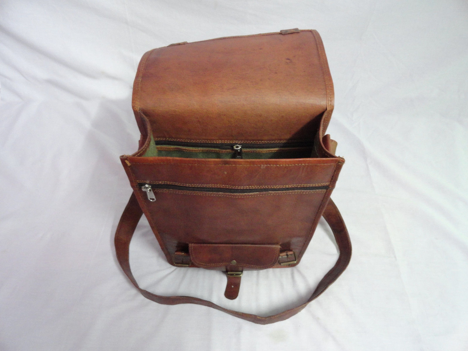 "Vintage Leather 13"" Macbook Messenger Bag Handmade Satchel Laptop Cross Body Bag"