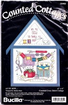 Bucilla As Ye Sew Cottage Sewing Room Cross Stitch Kit 33462 Frame Barbara Baatz - $17.95