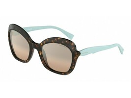 Tiffany & Co. Women's TF4154 80153D Havana/Blue Cat Eye Sunglasses 54mm - $241.53