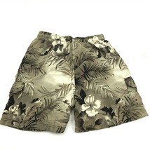 VINTAGE Sand N Sun Swim Trunks Size Medium M Tropical Cargo Shorts Bathi... - $17.83