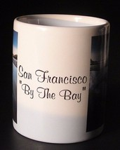 Coffee Mug San Francisco By The Bay Ceramic Cup Golden Gate Bridge Dolphins - $7.42