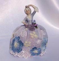 RARE Antique German Porcelain Half Doll, Tiny Lady Pincushion Collectibl... - $79.13