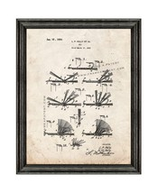 Fishing Fly Patent Print Old Look with Black Wood Frame - $24.95+