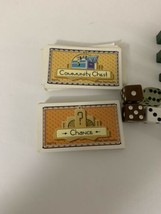 Monopoly 70th Anniversary Parts Replacements Hotel House Chance Comm Cards Dice image 2