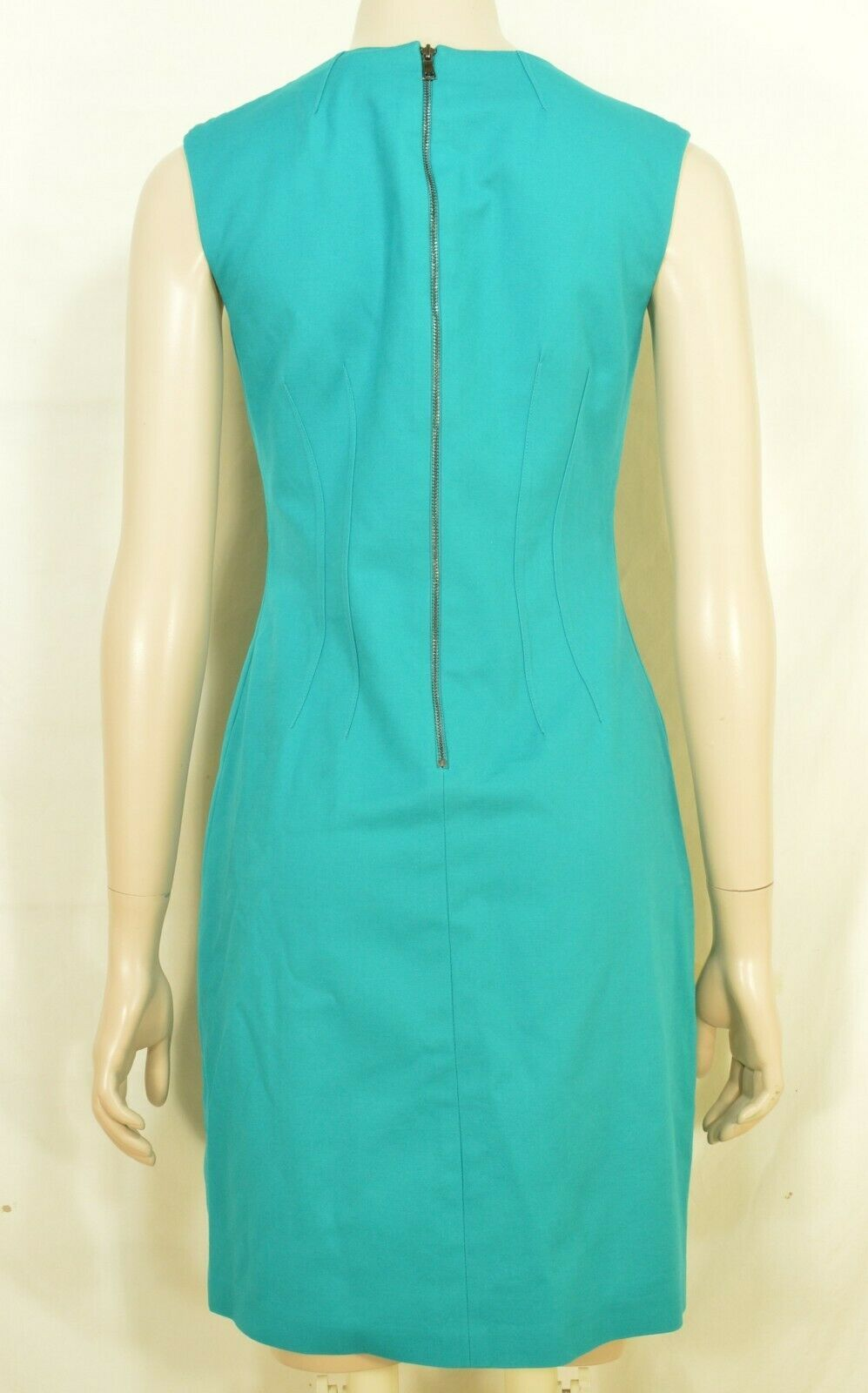 Elie Tahari dress SZ 2 LOT of 2  1 turquoise 1 floral sheath career chic lined image 7