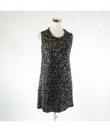 Black gray RACHEL ZOE sequin stretch sleeveless sheath dress 6 - $74.99