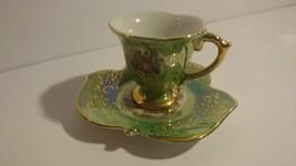 Vintage Made in Japan Victorian Scene Espresso/Demitasse Cup and Saucer Set - $18.99
