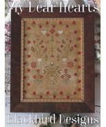 My Dear Hearts cross stitch chart Blackbird Des... - $12.60