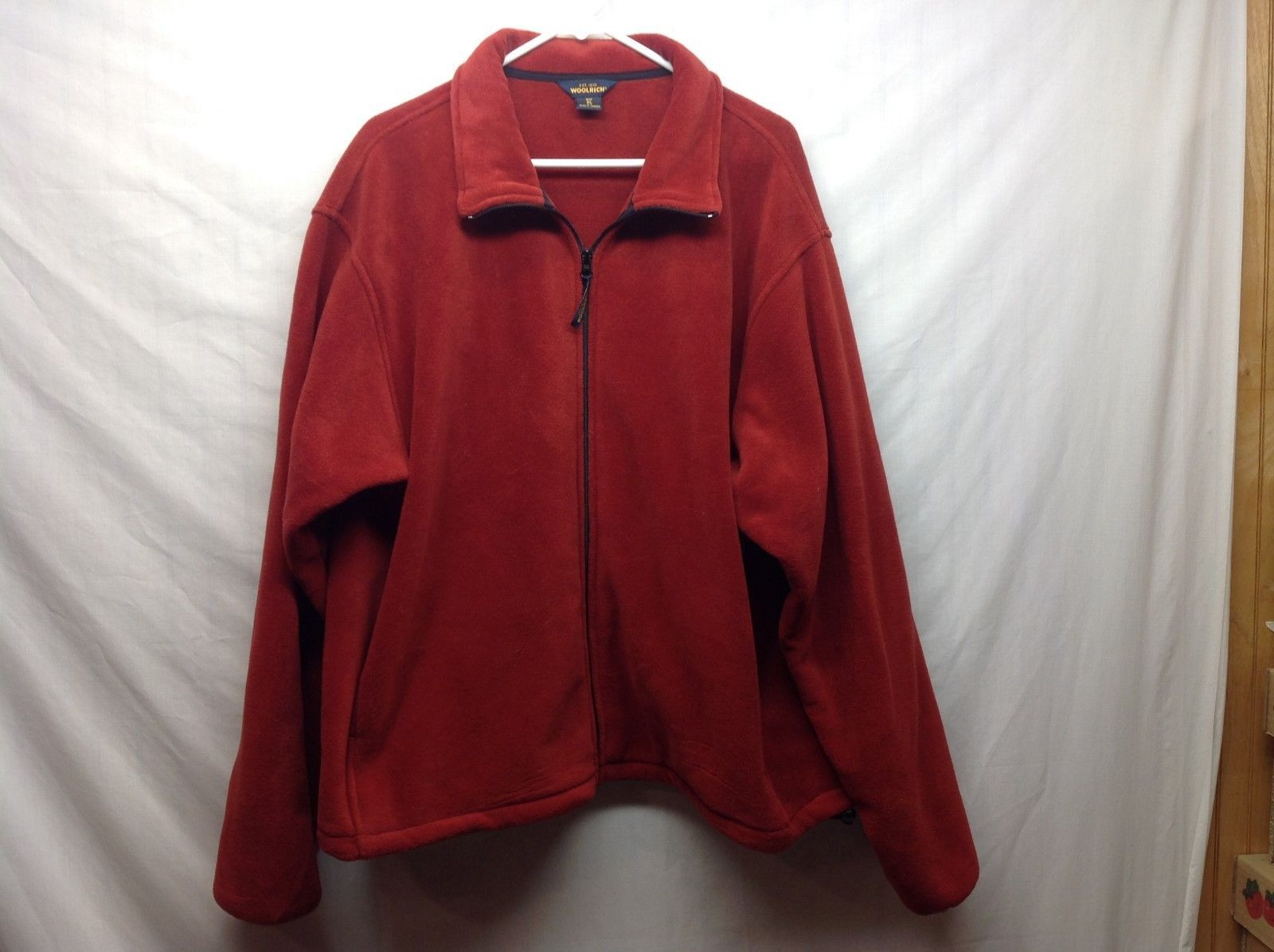 Woolrich Men's Red Thick Fleece Jacket Sz XL
