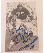 Vintage Hall of Fame San Francisco 49ers Bob St. Clair Signed Photo - $15.15