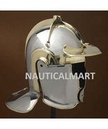 AUXILIARY INFANTRY 'E' (HEDDERNHEIM) STEEL AND BRASS HELMET BY NAUTICAAL... - $296.01