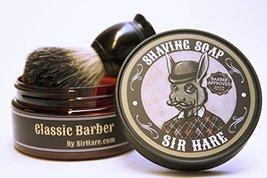 Premium Shaving Soap for Men By Sir Hare - Barbershop Fragrance - Shave Soap Tha image 2