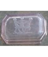 Intaglio Open Salt Cellar.  Vintage Pink, Ring Around the Rosie Image. ... - $18.00
