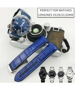 19 20 21 22mm Nylon Surface Leather Bottom Silicone Watch Strap Buckle W... - $75.19