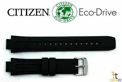 Primary image for Citizen 59-S51869 BN0070-09E Original Schwarz Gummi Uhrenarmband Band BN0071-06E