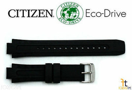 Citizen 59-S51869 BN0070-09E Original Schwarz Gummi Uhrenarmband Band BN... - $98.93