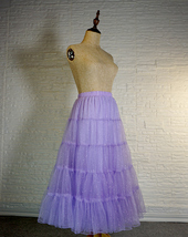 Princess Long Tulle Skirt Outfit Tiered Sparkle Tulle Skirt High Waist Plus Size image 5