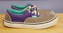 Vans Classic Off the Wall Gray & Purple Padded Canvas Sneakers Youth Size 3 - $14.85