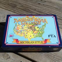 The Great American Trivia Challenge Michigan Style Board Game 1987 Anniv... - $46.39