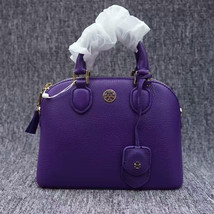 Tory Burch Robinson Pebbled Leather Dome Satchel - $292.00