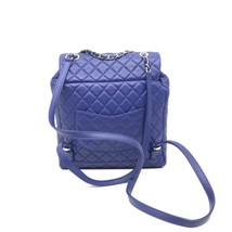 AUTHENTIC CHANEL ELECTRIC BLUE QUILTED LEATHER LARGE URBAN SPIRIT BACKPACK SHW image 6