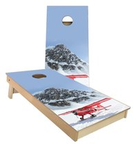 Airplane on the side of a mountain in the snow cornhole boards - $179.00