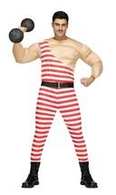 Fun World Carny Carnival Muscolo Forte Uomo Abito Adulto Costume Halloween - $31.44