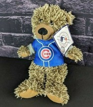"Chicago Cubs Plush Teddy Beanie Bear MLB Stuffed Animal Brown Blue Jersey 9""  - $22.76"