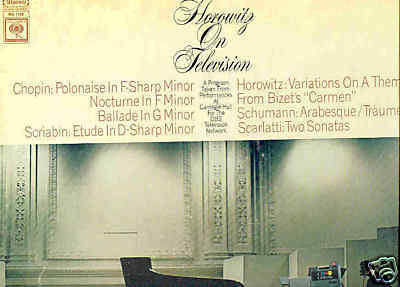 VLADIMIR HOROWITZ LP Horowitz on Television