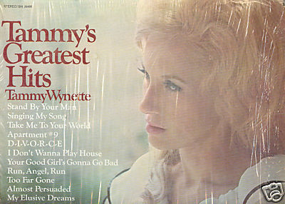 TAMMY WYNETTE'S GREATEST HITS LP Epic #BN 26486 Stereo