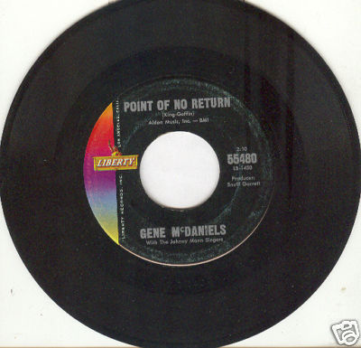 GENE McDANIELS 45rpm Point of No Return