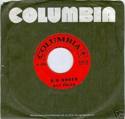 RAY PRICE 45rpm Big Shoes b/w I've Just Destroyed...