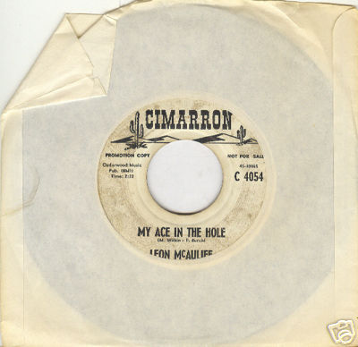 LEON McAULIFF 45rpm My Ace in the Hole