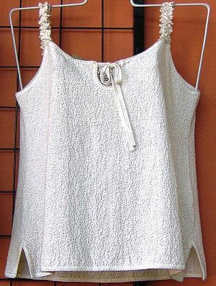 Sleeveless white top,100% ecological pima cotton