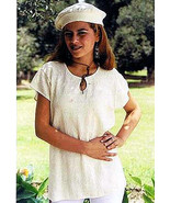 White Shirt with a beret,100% ecological pima cotton  - $63.00
