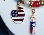 4th of July Americana Flag Patriotic Americana Necklace